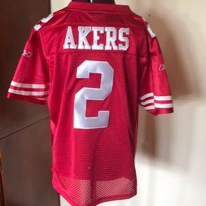 David Akers 49ers NFL Football Jersey M